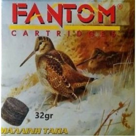 Φυσίγγια Fantom*ΜΑΛΛΙΝΗ ΤΑΠΑ* 32gr Cal 12