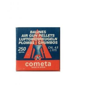 Βλήματα αεροβόλων Cometa 250 πλακέ ραβδωτό cal 4,5