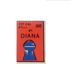 Βλήματα αεροβόλων Diana 100 πομπέ ραβδωτό cal 4,5