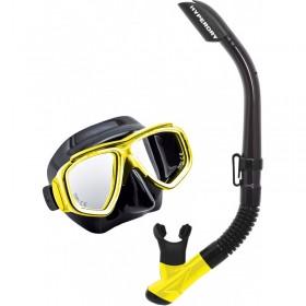 Μάσκα κατάδυσης  σετ  SPLENDIVE (BLACK AND YELLOW)