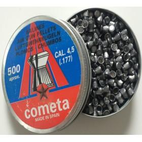 Βλήματα αεροβόλων Cometa 500 πλακέ ραβδωτό cal 4,5