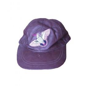 Καπέλο δερμάτινο με απεικόνιση μπεκάτσας
